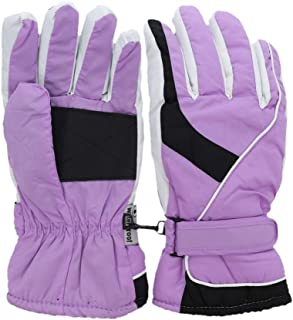 Two Tone Curve Ski Gloves for Woman Waterproof