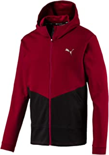 Puma Men'S Reactive Fz Jacket, Rhubarb/Puma Black, XL