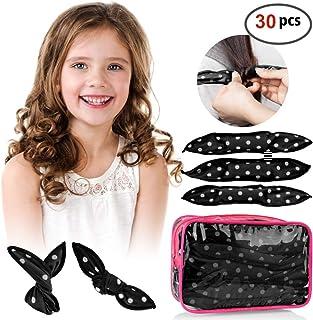 HailiCare 30pcs Hair Rollers Night Sleep Foam Hair Curler - Flexible Soft Pillow Hair Rollers DIY Sponge Wave Hair Tools No Heat Women & Kids (Black)