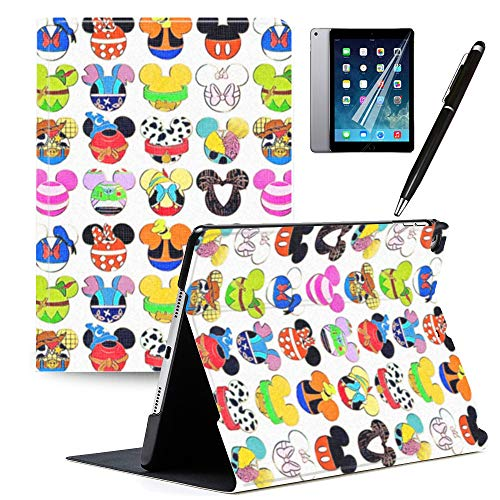 iPad 9.7 inch Case 2018 iPad 6th Generation Case 2017 iPad 5th Generation Mickey and Minnie Cartoon Case PU Leather Stand Protection Smart Auto Sleep/Wake Cover for Pad Air 2 / iPad Air 1#A