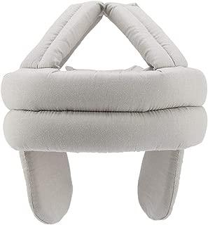 Jeffergarden Protective Hat Elder Head Cap Safe Breathable Helmet Old Man Ear Protection Fall Prevention(Light Gray)