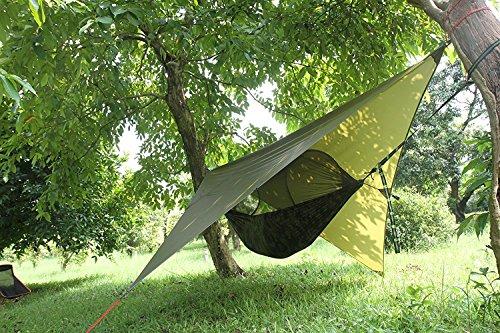 ParaCity - Tente abri pour camping, bâche étanche, abris pour pluie, mouches, hamac, bâche légère pour camping randonnée