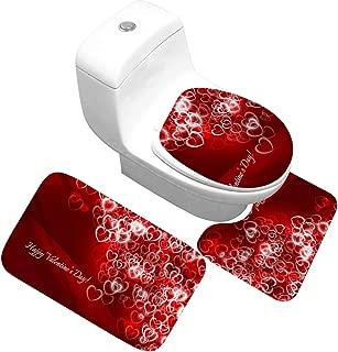 Alfombra Pequeña Pelota-3 Unids/Set Alfombrillas de baño de Microfibra Juego Alfombra de Pedestal Alfombrilla de baño Tapa Tapa Alfombra y Alfombra de baño Absorbente Antideslizante 40x60CM