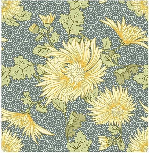 Leileixiao Pintura de Pintura a Mano Elegante Margarita Ondas Autoadhesivo prepasado Wallpaper wallgrafet murnature Pegatinas de Muebles (Color : Flower Pattern, Dimensions : 3mx45cm)