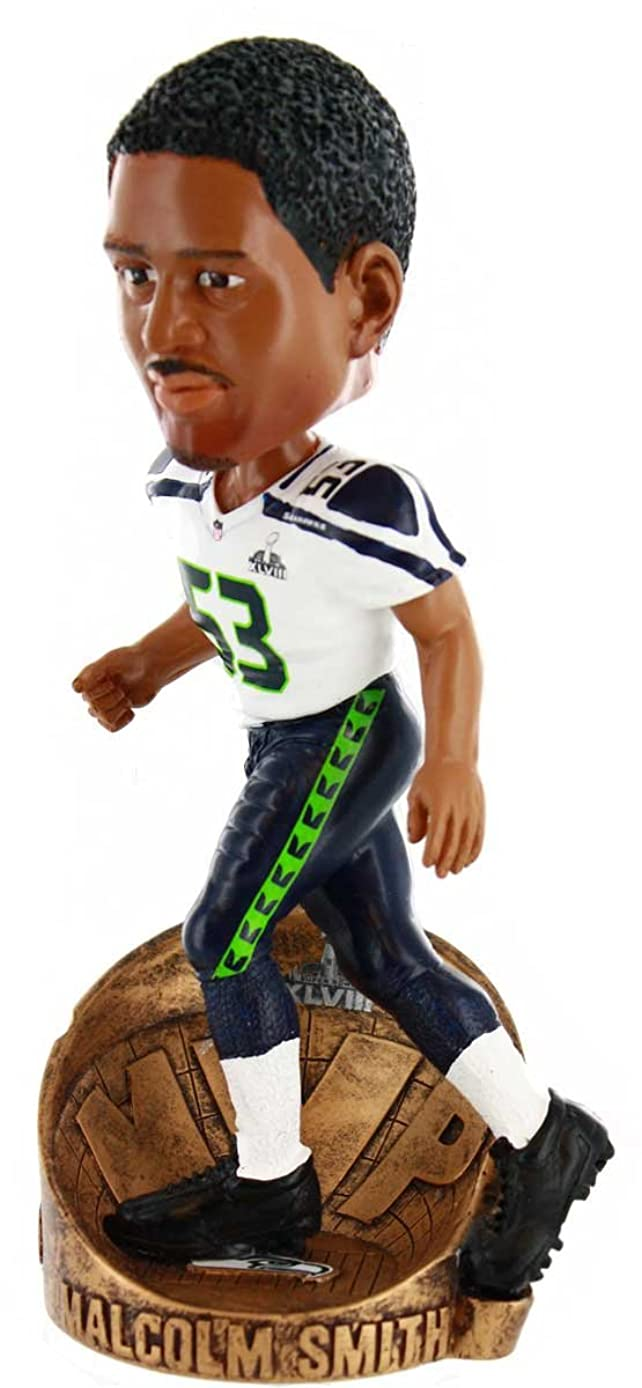 NFL Seattle Seahawks Malcolm Smith #53 MVP Superbowl XLVIII Bobblehead