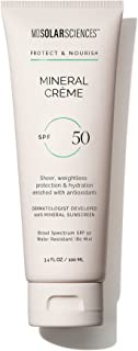MDSolarSciences Mineral Crème SPF 50 - Oil-Free, Water-Resistant, Lightweight Mineral Broad Spectrum SPF Sunscreen - Absor...
