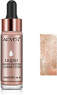 Aliver Liquid Highlighter Makeup Smooth Shimmer Glow Liquid Illuminator for Face Contour Makeup (#2 CELESTIAL)
