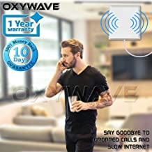 OXYWAVE 2G+3G Mobile Signal Antenna Complete Kit - White (Coverage Area 1500 sq.ft.)