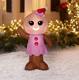 Gemmy Gingerbread Woman Inflatable
