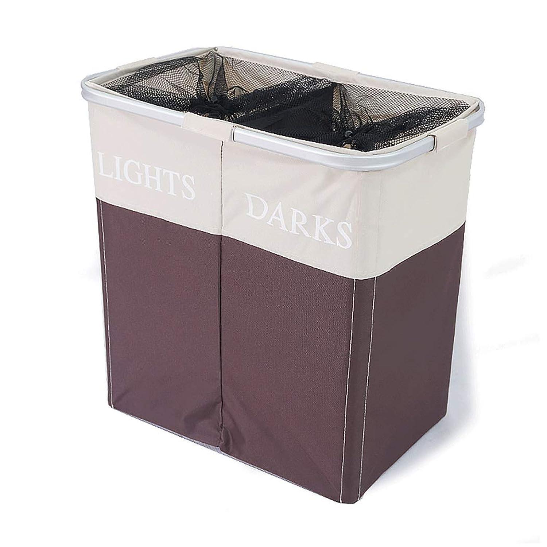 折りたたみ収納袋の分類汚れた服収納バスケット汚れた服収納オックスフォード布おもちゃのバスケットランドリーバスケット (色 : Brown White)