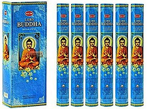 Lord Buddha - Box of Six 20 Gram Tubes - HEM Incense
