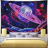 NHhuai Tapiz de Fractal para Dormitorio Sala de Estar Colgante de Pared de Arte de Tela Colgante Serie Cielo Estrellado