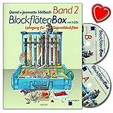 Flauta dulce caja de banda 2–lehrgang (bajo nivel: 7–8años) para flauta dulce soprano con 2CDs de Daniel claro BACHMANN–con Bunter herzförmiger Ordenador Pinza