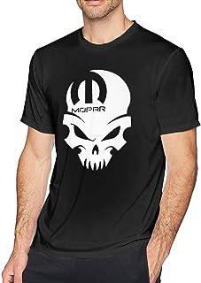 Mopar Skull Men's Short Sleeve T-Shirt Cotton Printed Round Tee Tops