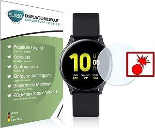 Slabo 2 x Protector de Pantalla blindado para Samsung Galaxy Watch Active2 40mm Shockproof A Prueba de Golpes