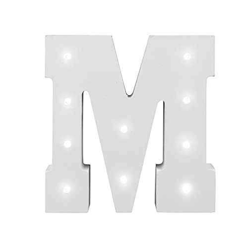 White Light Up Letter Wooden Alphabet A-Z Gift Boxed Name Wedding Nursery