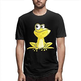 New Men Cartoon Frog Tshirt - DIY Stylish Short Sleeve Printed Tees Comfotable