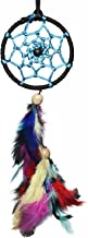 Rooh Dream Catcher ~ Black and Blue Car Hanging ~ Handmade Hangings for Positivity (Can be used as Home Décor Accents, Wall Hangings, Garden, Car, Outdoor, Bedroom, Key chain, Meditation Room, Yoga Temple, Windchime)