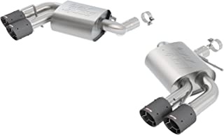 Borla 11921CF ATAK Axle-Back Exhaust System 2.75in. Into Muffler Dual 2.5in. Out Incl. Mufflers/Tailpipes/Clamps/4x6.25 in. Carbon Fiber Round Tips Dual Split Rear Exit ATAK Axle-Back Exhaust System