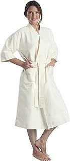 Chamois Microfiber Kimono Hotel Robe - Lightweight Absorbent Soft Spa Bathrobe by Monarch/Cypress