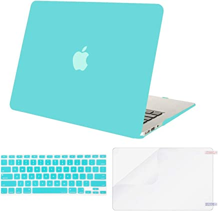 MOSISO MacBook Air 13 Inch Case A1369 & A1466,Plastic Hard Case & Keyboard Cover & Screen Protector Only Compatible con MacBook Air 13 Inch (Older Version 2010-2017 Release), Hot Blue