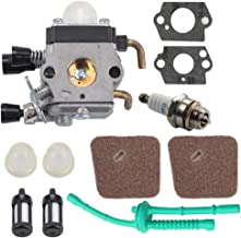 Butom FS 55 55R Carburetor for Stihl C1Q-S97 FS45 FS55 FS55R FS55RC FS46 FS55C HL45 KM55R FS38 String Trimmer Weed Eater w/Air Fuel Filter Line Kit