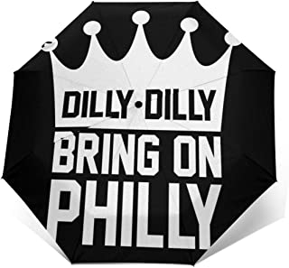 Dilly Dilly Bring On Philly Philadelphia Eagles Windproof Compact Auto Open And Close Folding Umbrella,Automatic Foldable ...