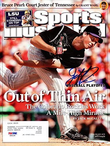 OFFer Jeff Francis Trust Autographed Sports Colorado Magazine Illustrated Ro