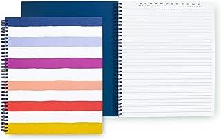 Kate Spade New York Striped Large Spiral Notebook, 11