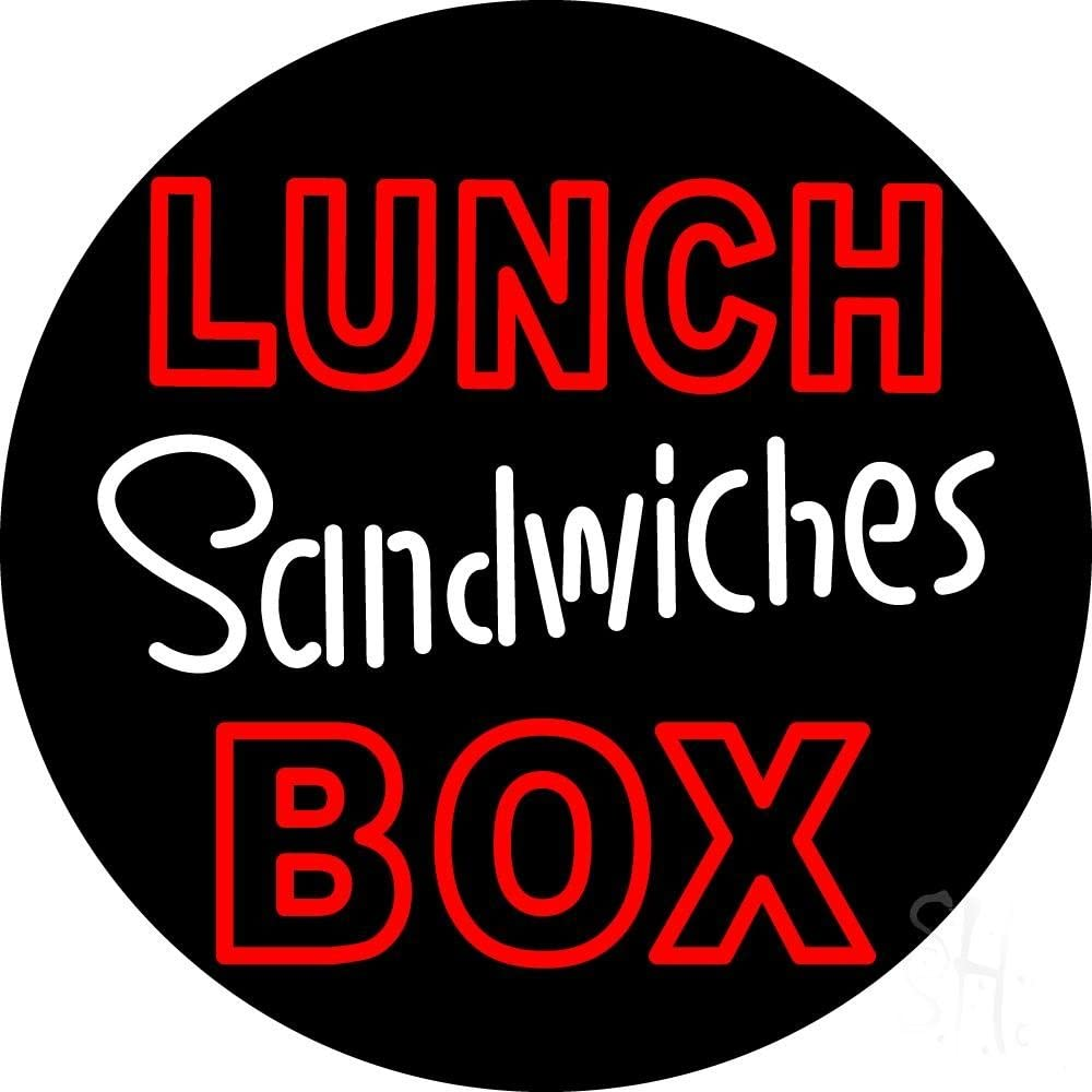 Lunch Sandwiches Box LED Neon sign - x Squar 18 Los Angeles Mall Black inches NEW