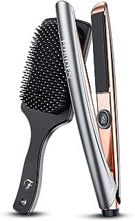 Hair Straightener and Curler 2 in 1 Ceramic Flat Iron, Ceramic Flat Iron for Hair Professional, Ceramic Flat Iron Hair Straightener