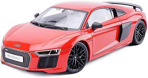 KKD Scale-Modellfahrzeuge 1 36 skala Audi R8V10PLUS Hardcover Version Spielzeug Diecast Modell Mit Zurückziehen Auto Für Kinder Geschenk Sammlung Mini Fahrzeuge