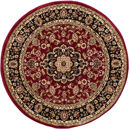 Well Woven Barclay Medallion Kashan Red Traditional Area Rug 3'11' Round