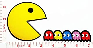 PAC MAN Comics Cartoon kid patch Jacket Polo T- shirt DIY Applique Embroidered Sew Iron on patch