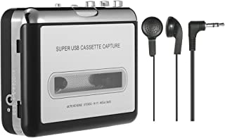 Gecheer USB Cassette Capture Cassette Tape-to-MP3 Converter into Computer Stereo HiFi Sound Quality Mega Bass Audio Music ...
