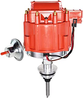 A-Team Performance Complete HEI Distributor 65K Coil Compatible with Mopar Chrysler Dodge Plymouth V8 Engines 273 318 340 340 360 One-Wire Installataion Red Cap