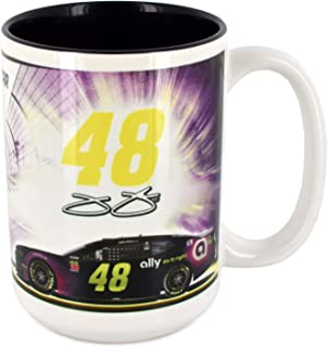Sparta Jimmie Johnson Jumbo 15oz Ceramic #48 Sublimated NASCAR Coffee Mug Cup With Color Interior