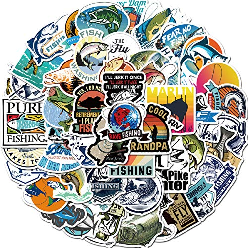 Cool Stickers for Laptop Go Fishing Stickers Car Motorcycle Bicycle Luggage Helmet Graffiti Patches Skateboard Stickers
