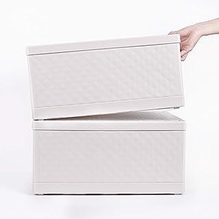 収納ボックス 収納ケース 収納バスケット 折りたたみ式 雑貨収納 衣類/書類/道具 多機能収納 大容量 フタ付き 積み重ね 車載用 NELIPO (収納ボックス-2個セット)