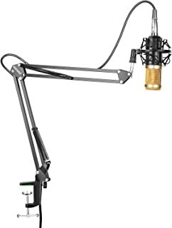 Neewer NW-800 Professional Studio Broadcasting Recording Condenser Microphone & NW-35 Adjustable Recording Microphone Suspension Scissor Arm Stand
