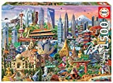 Educa- Símbolos de Asia Puzzle, 1500 Piezas, Multicolor (17979)