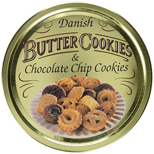 Butter Cookies Dänische Butter und Choco Chip Cookies, 12er Pack (12 x 500 g)
