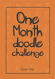 One month doodle challenge: A doodle a day from a suggested simple line shape  for 30 days sketchbook challenge