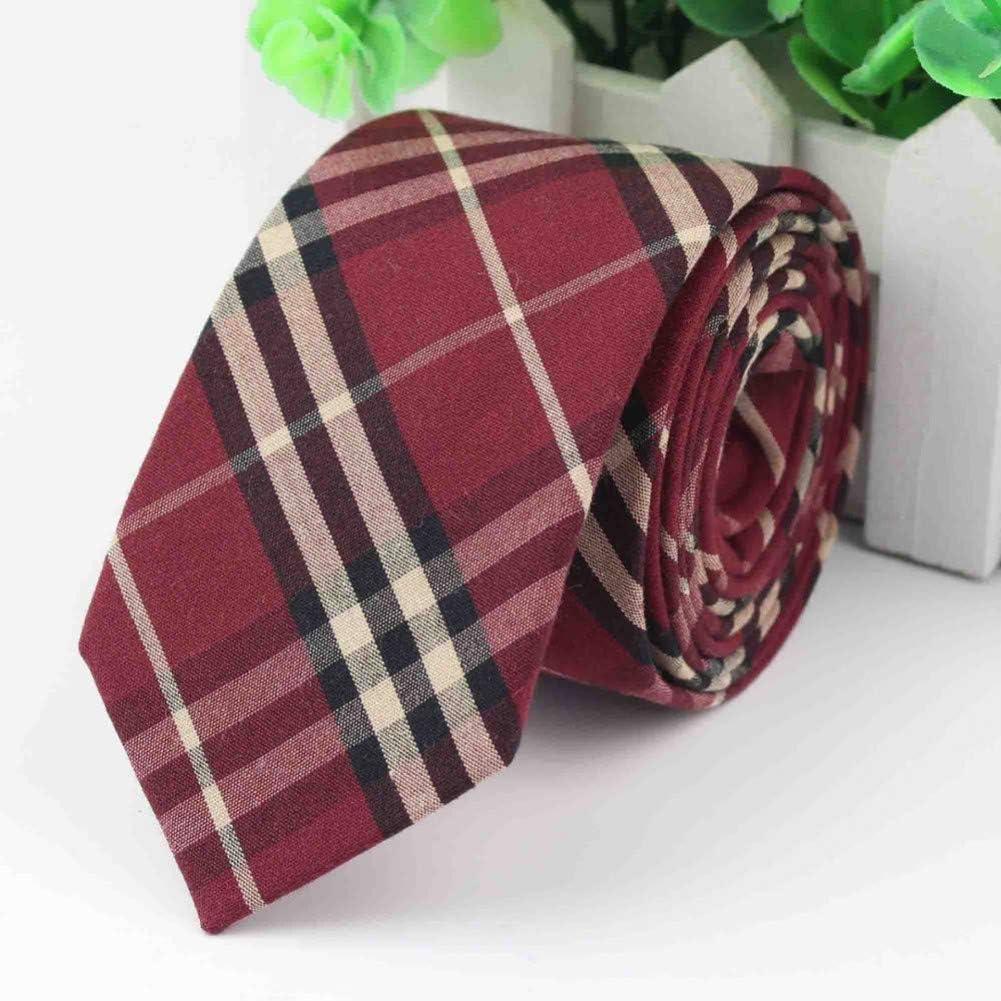 WOXHY Women Tie Colorful Men's Plaid Necktie Casual Streak Suit Bowknots Ties Male Cotton Skinny Slim Ties Cravat