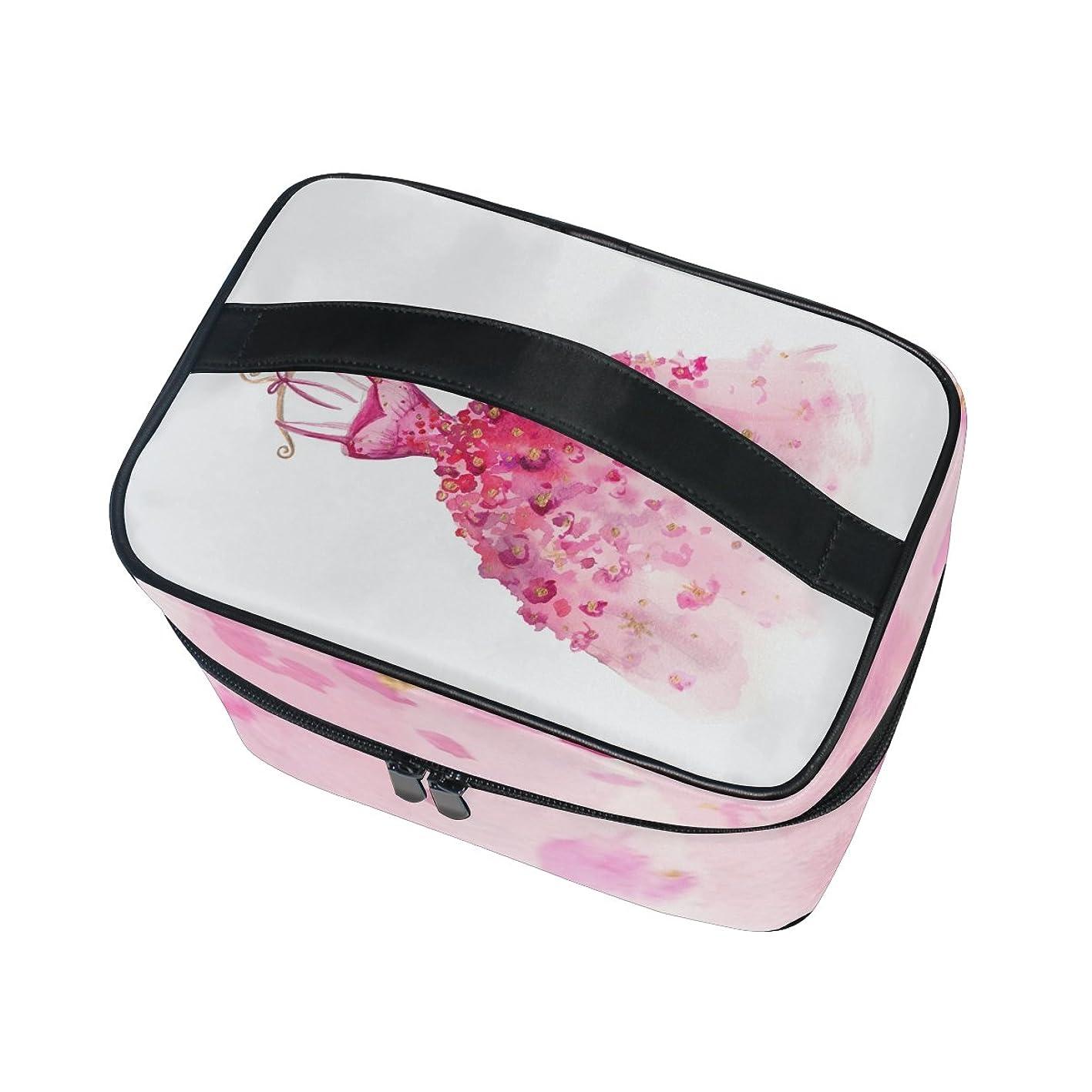 プレミアムお香姉妹ALAZA 化粧ポーチ プリンセス 姫系 化粧 メイクボックス 収納用品 ピンク 大きめ かわいい