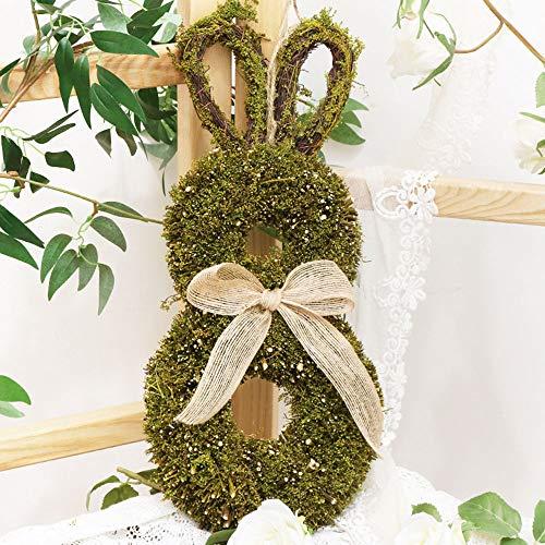 JSBVM Decoracin de Conejito de Planta de simulacin de Pascua, decoracin de Ventana, decoracin de Puerta, Colgante Hecho a Mano, Adornos de Escritorio de Conejo de cumpleaos