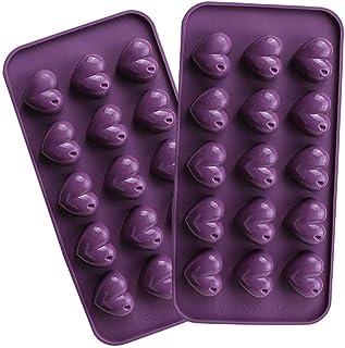 Webake Moules à Chocolat en Silicone Forme De Coeur Gâteau Anti-adhésifs Moulle Silicone Patisserie Moulessilicone Gateaux...