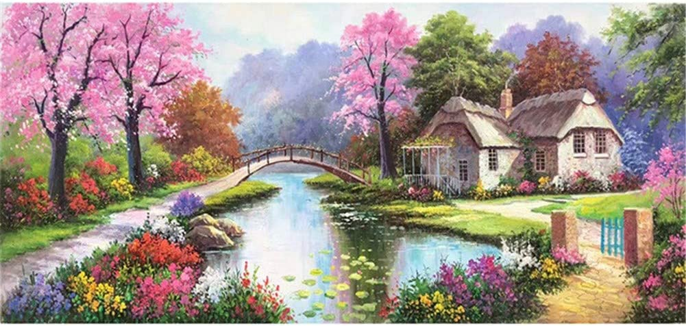 5D DIY Adults Diamond Ranking TOP4 Painting Beginners Kits Water River Los Angeles Mall 70x140