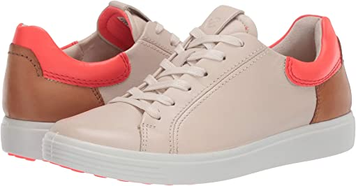 Vanilla/Coral Neon/Lion Cow Leather/Cow Leather/Cow Nubuck