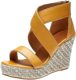 Frauit Sandalen voor dames, platte sandalen, zomer, open teen, wiggen, dikke onderkant, veters, strandschoenen voor dames